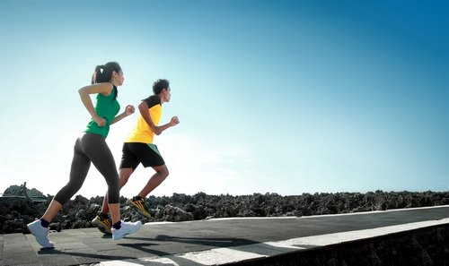 sport people running outdoor