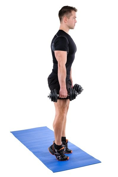 Standing Dumbbell Calf Raise with Dumbbels workout