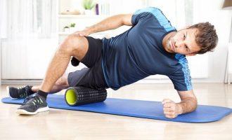 利用滾筒加強身體活動度