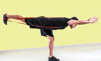利用環狀彈力帶增加訓練難度