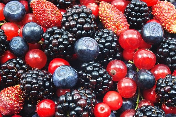 14971396 - different fresh berries as background